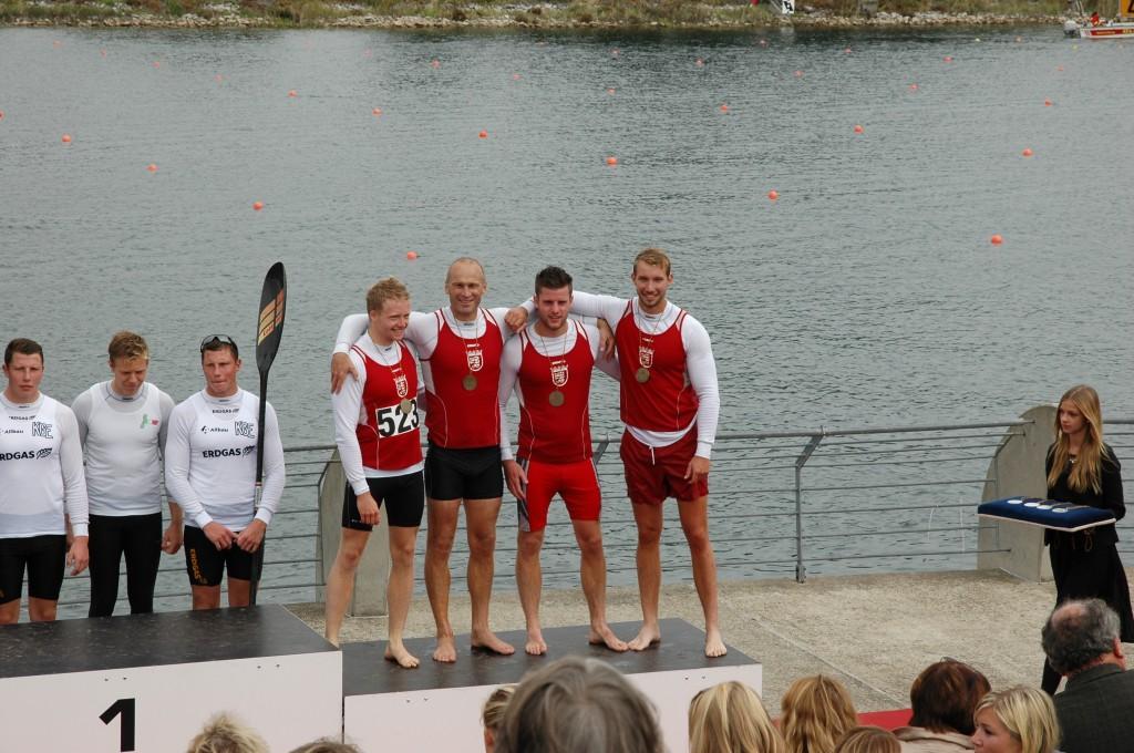 Siegerehrung DM Köln 3. Platz LK Vierer 5000 m